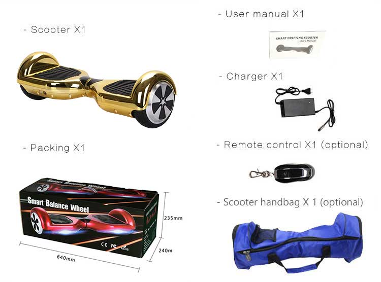 High quality smart hoverboard two wheel self-balancing scooter