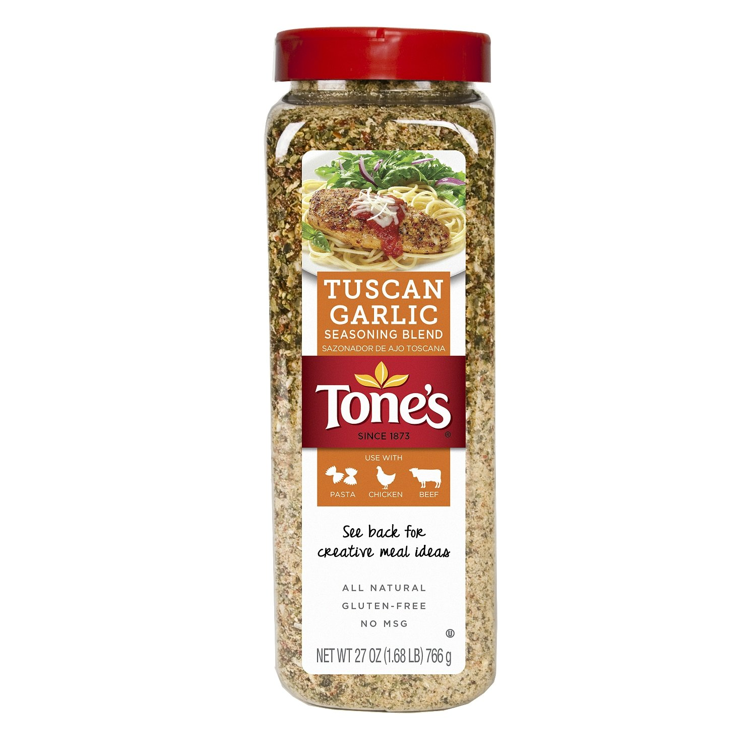 Tone's Tuscan Garlic Seasoning Blend 27 oz.