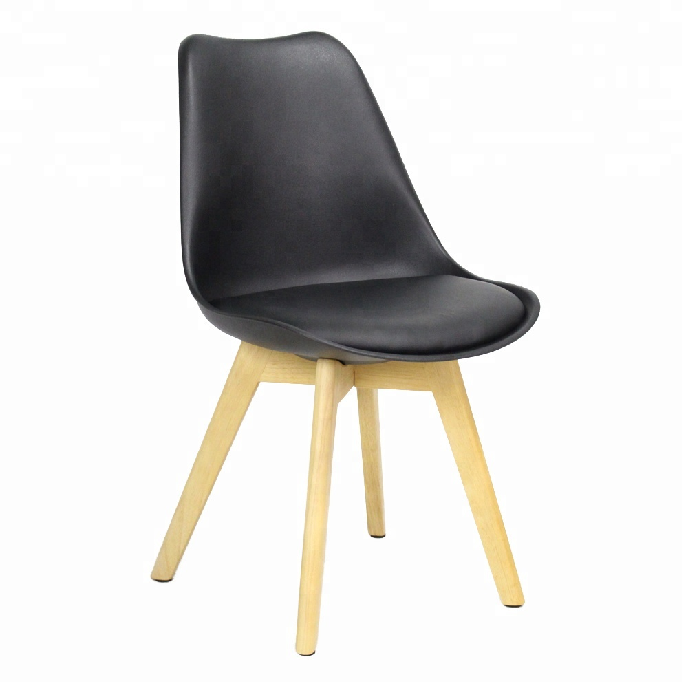 Wholesale Modern Polypropylene Wooden Legs Chairs Dining Room Chair for sale