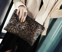 Fashion Purses Coloured Envelopes Sequin Bag Clutch Bag for Wholesale and Retail, Aliexpress HoT!