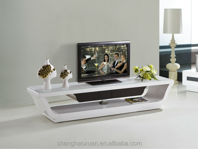 Latest Design Wooden Tv Furniture Plasma Stand Pictures
