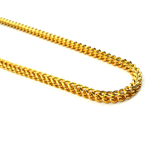 "Miss Jewelry PVD gold filled franco chain 4mm 28"", 14k solid gold chain necklace"