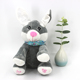 Custom stuffed animal toy electric soft christmas peek a boo singing rabbit musical plush toys pink electronic rabbit toy