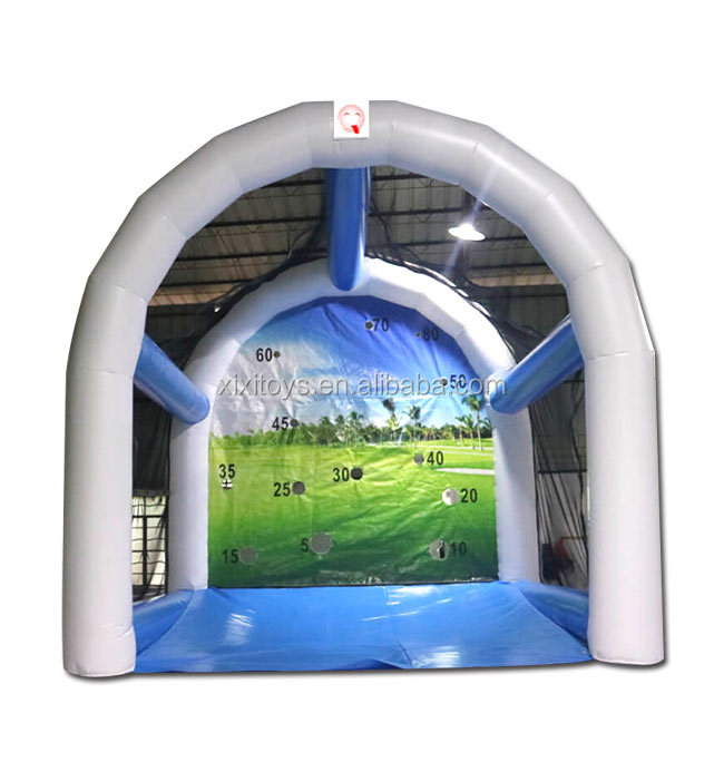 Interactive game inflatable golf cage for kids and adults