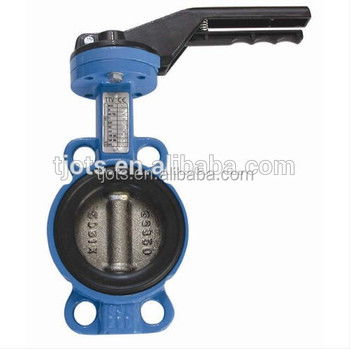 Price For Pn10/pn16 Wafer Type Ptfe Teflon Lined Butterfly Valve ...