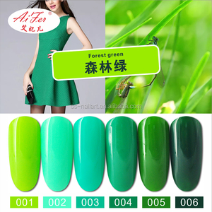 Hot bulk wholesale high quality forest green series curing uv gel polish
