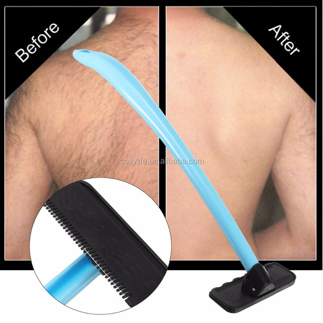New Men Manual Back Hair Shaver With Plastic Long Handle Do-It-Yourself Shaving Hair Body Underarm Back Hair Removal Razors