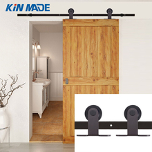 Vintage Steel Single Double Sliding Barn Door Hardware Track Kit