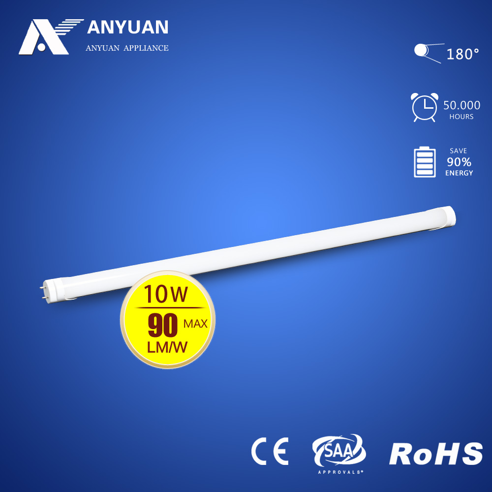 High Quality 10W LED Tube T8 600mm CE RoHS SMD2835 Ra>80 3000-6000K