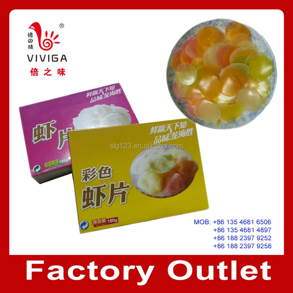 box packing Colored prawn cracker shrimp cracker