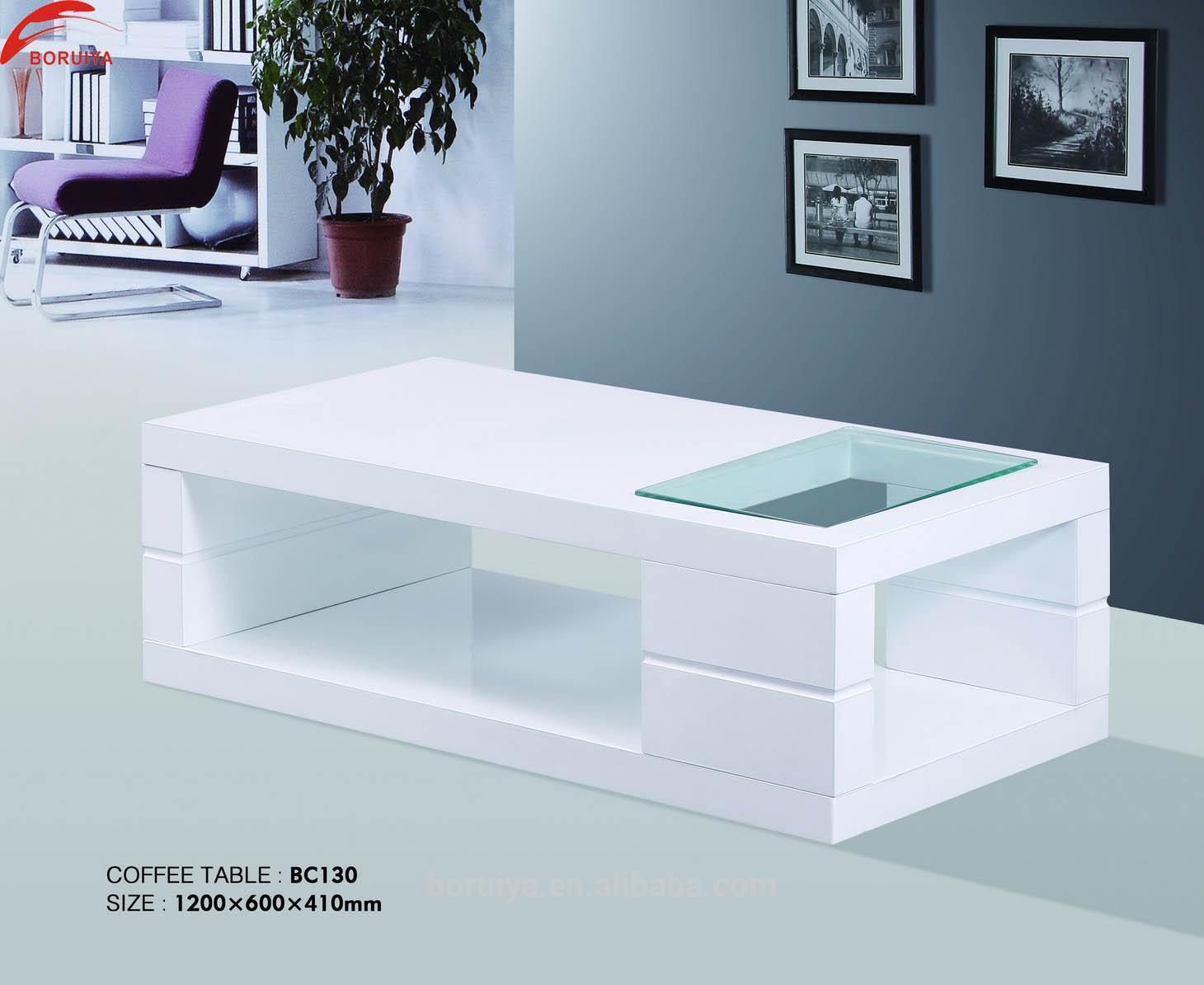 Nice Furniture Wood Modern Design Glass Center Table