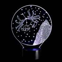 Valentine 's Day gift 3D Colorful Night Light Constellation Cancer touch small desk lamp 7 color changes