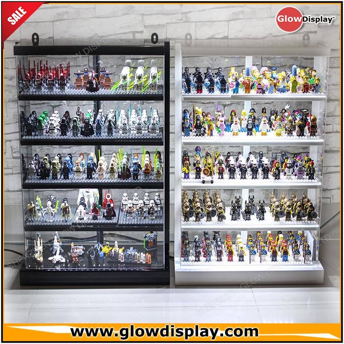 Custom Plexiglass Acrylic Lego Minifigure Display Case