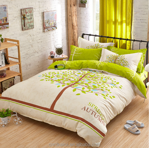 2015 New Spring Green tree style Cotton bedding set kid bedding wholesale comforter sets bedding