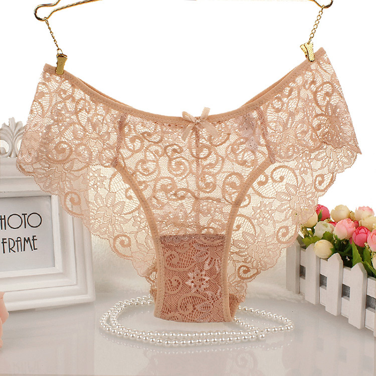 080bbd7d55f Women Lady Girl Hollow Lingerie Floral Panties Underwear Lace Briefs  Knickers
