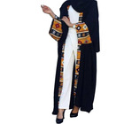 fashion splicing floral muslim long abaya
