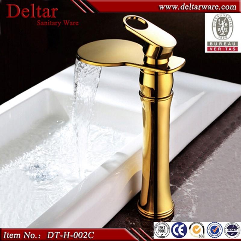 China Sanitary Ware Faucet Golden Waterfall Faucet,Brass Basin ...