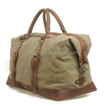 Vintage Style Men S 18 Inch Washed Canvas Large Duffle Bag For Outdoor