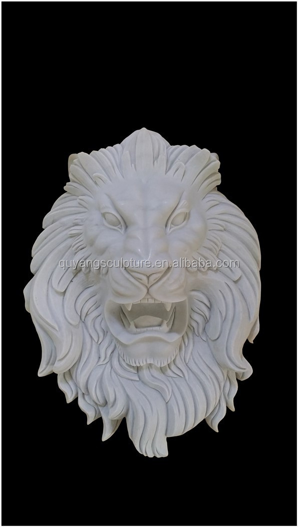marble lion wall relief