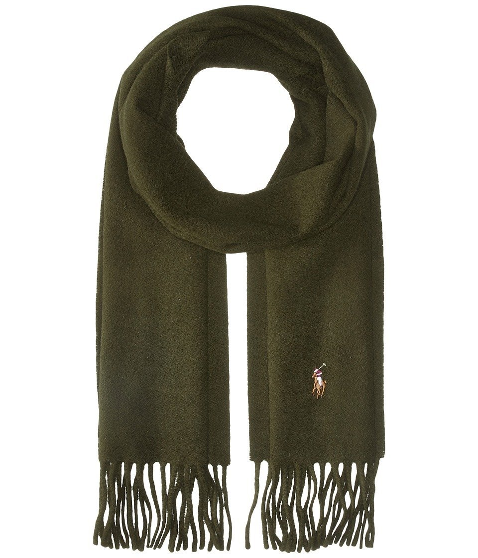 Get Quotations · Polo Ralph Lauren Signature Wool Scarf Dark Loden Scarves 52c96ed551cdc