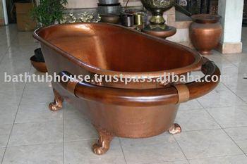 Vasca Da Bagno Di Rame : Vasca da bagno in rame con la guida di legno di teak buy rame