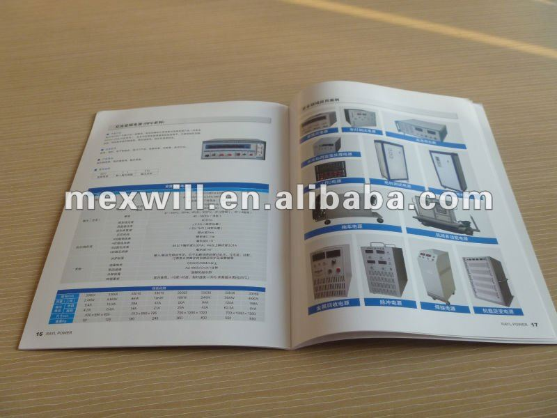Machine products catalogue printing