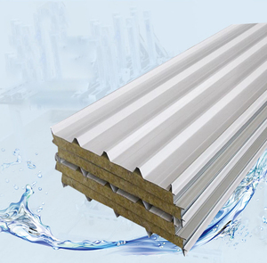 Supply 950 type wall slate rock color steel sandwich panel