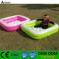 Factory customizable environmental rectangle swim pool inflatable dog pool inflatable water pool