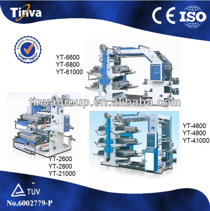 YT Series Four colors Flexography Printing Machine