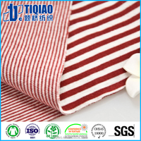 Chinese factory manufactured striped organic cotton t shirts fabric