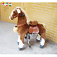 Enjoyment EN71 mechanical pony wooden moving horse toys for girls