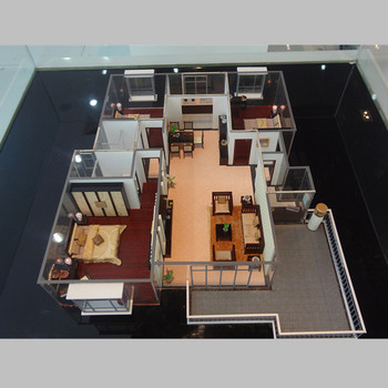 house apartment inside model with mini architecture model furniture - Mini House Maker