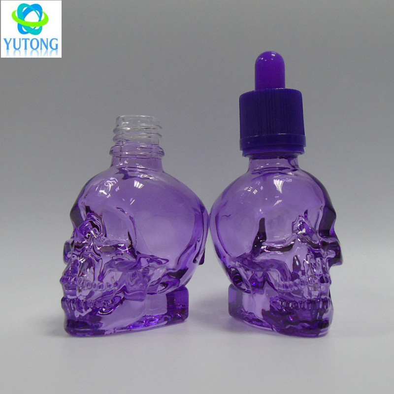 glass skull dropper bottle 30ml glass oil bottle