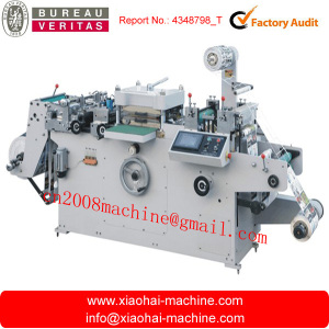 MQ-320 Full-automatic Roll-Roll, Roll to sheet Adhesive Label Die-cutting Machine with Lamination Hot-Stamping and Punching