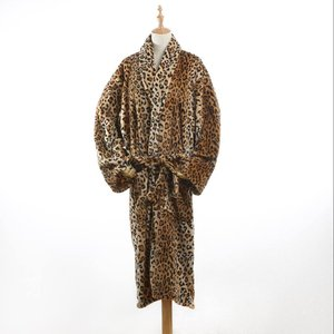 Animal Print Flannel sleepwear bathrobe for Men