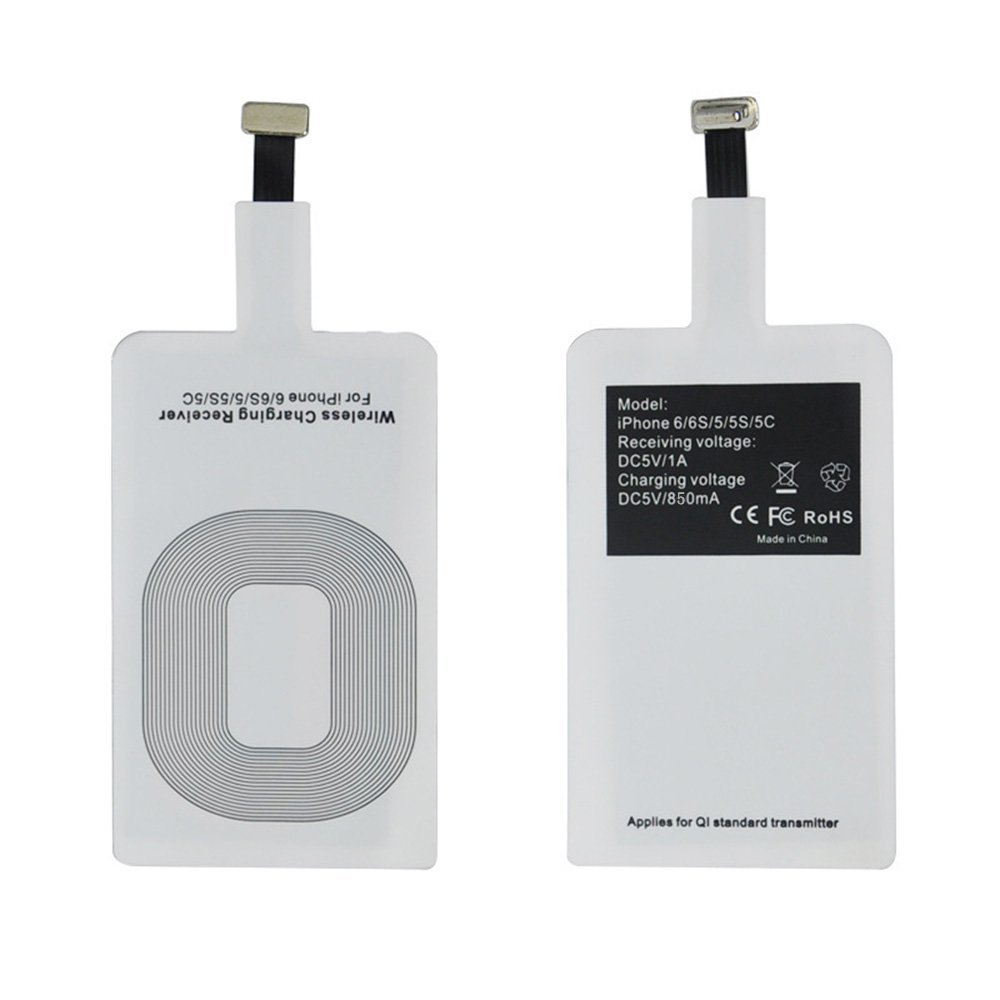 Shenzhen Factory QI Wireless Charger Receiver For Iphone Wireless Charger Adapter