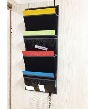 Over The Door Fabric Office Supplies Storage Organizer For Notebooks Planners File Folders