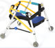 Children foldable walking aid aluminum walker the disabled kids walking aid