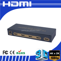 4K 1080P HDMI Switch 4X1 4 Port 3D HDMI Switcher Switch With IR Remote Support