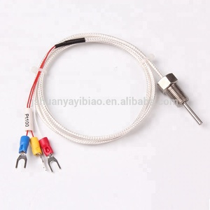 M6/M8 K/J/E/PT100 Grounded Screw Thermocouple 0-600C Temperature Measurement Senors Probe 2M