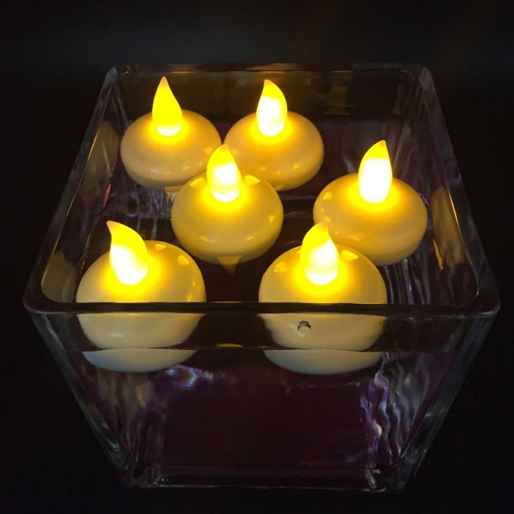 Pink Color Led Battery Operated Water Flameless Floating Tea Light Candle