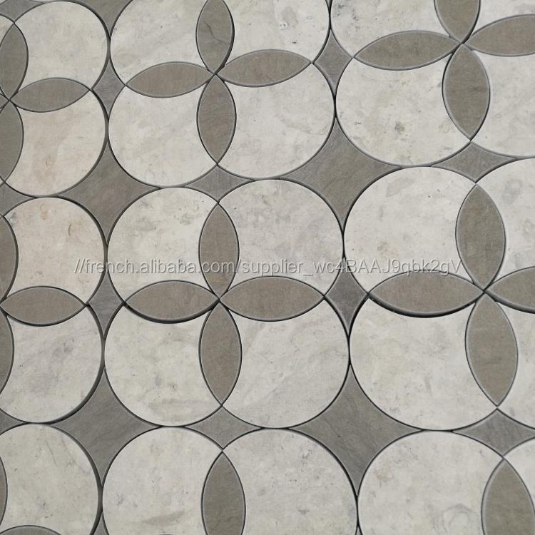 La tunisie gris marbre au jet d\'eau mosaïque pour salle décoration--ID de  produit:500010995660-french.alibaba.com