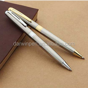2018 most classic sliver parts golden accessories metal ball pen with high quality ball pen