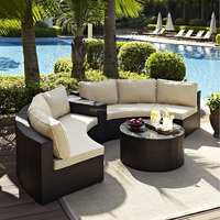 2015 sector shape wicker patio set with sectional arm table furniture outdoor