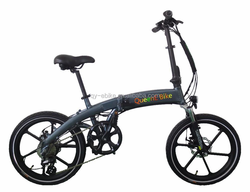 Queene Ams 48v 750w Beach Fat Tire Folding Electric Bike Aimos