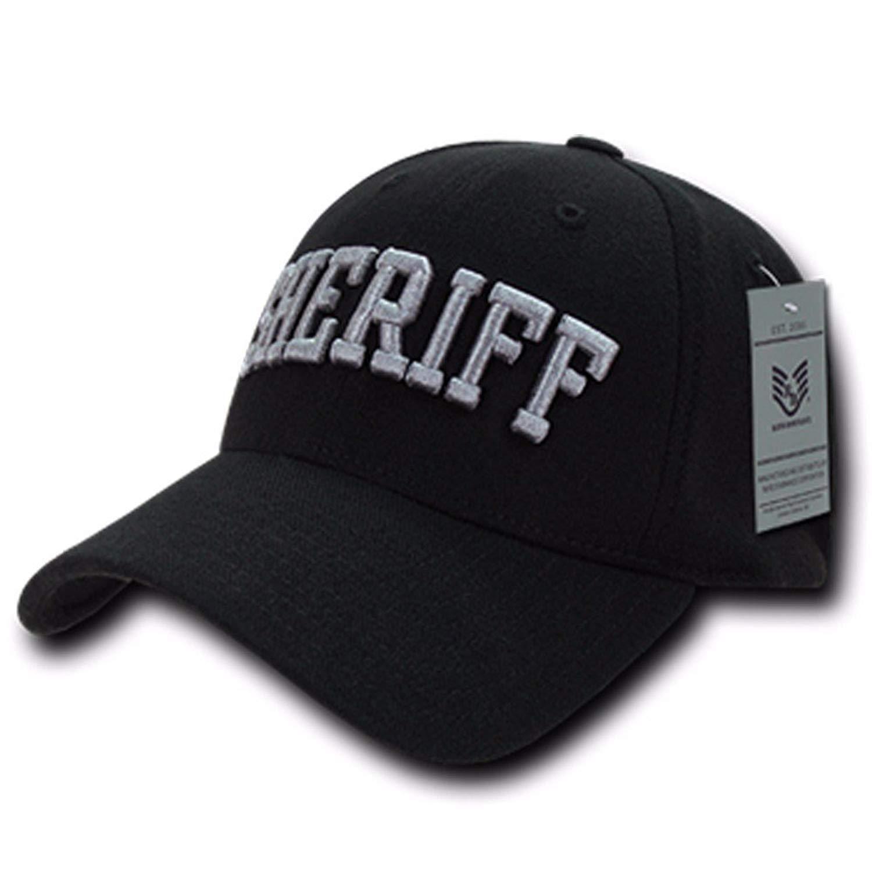 302fd369164 SHERIFF Black Flex Fit Baseball Cap