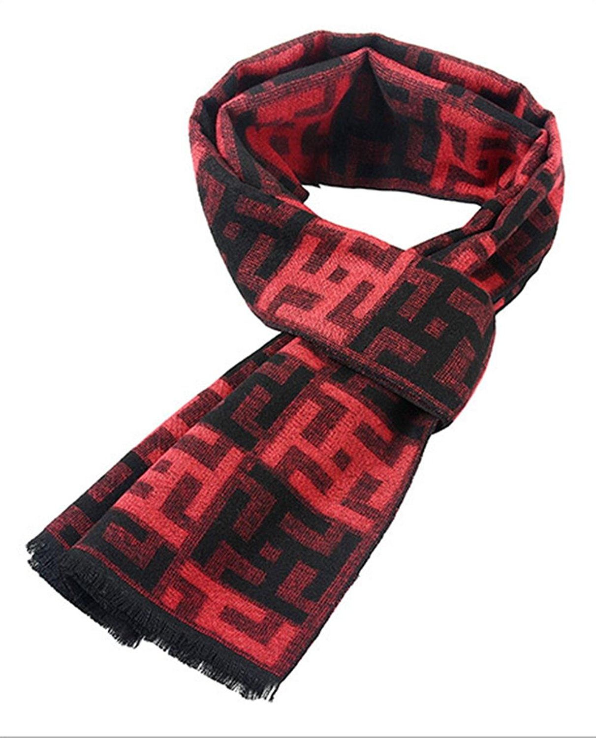 New autumn and winter men 's scarf imitation silk brushed warm scarf winter scarf million words geometric scarf , 180cm