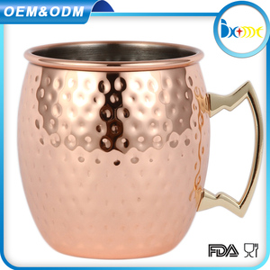 Promotional hammered moscow mule smirnoff stoli vodka copper mugs wholesale