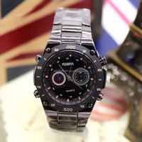 2016 Fashion Black Sports Watch Two Time Zone Three Eyes Quartz Men's Watches Wholesale