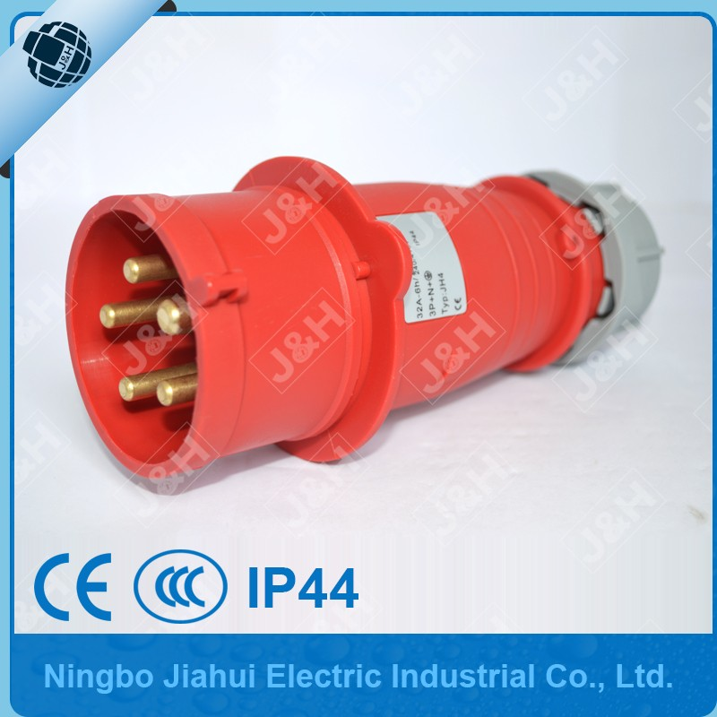 JH3451 ip44 5p 32A industrial socket, CE certified IP44 3pahse 32A industraial socket